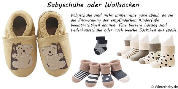 Babyschuhe oder Wollsocken?